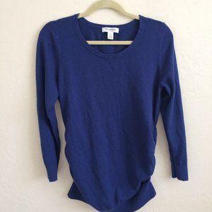 Motherhood Maternity Blue Long Sleeve Sweater L